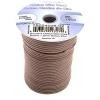 Dazzle-it Cotton Wax Cord 1.5mm Round Brown 25m Spool